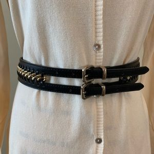 NWOT Zara Belt with gold tone Gold chain detail